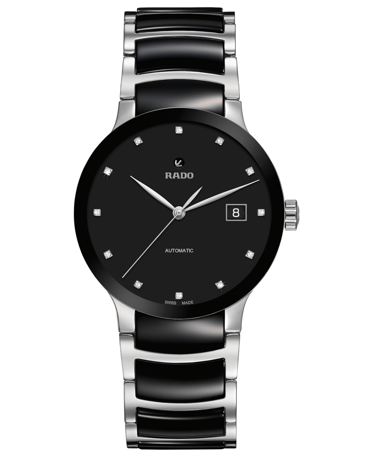Rado Women S Swiss Automatic Centrix Diamond Accent Black Ceramic Stainless Steel Bracelet Watch 38mm Reviews All Fine Jewelry Jewelry Watches Macy In 2020 Stainless Steel Bracelet