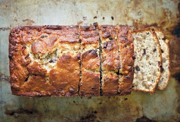 Mommom's Chocolate Bourbon-Spiked Banana Bread