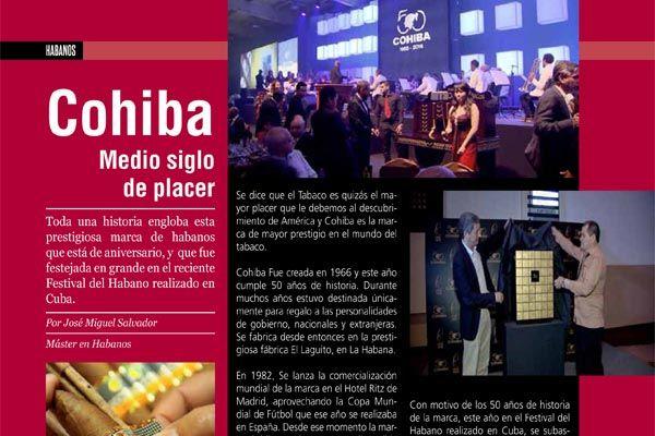 Cohiba Medio siglo de placer | La Casa del Habano | Santiago - Chile