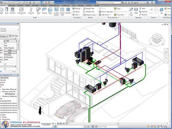 Autodesk Revit MEP Tutorial 2016 Architectura Hvac design