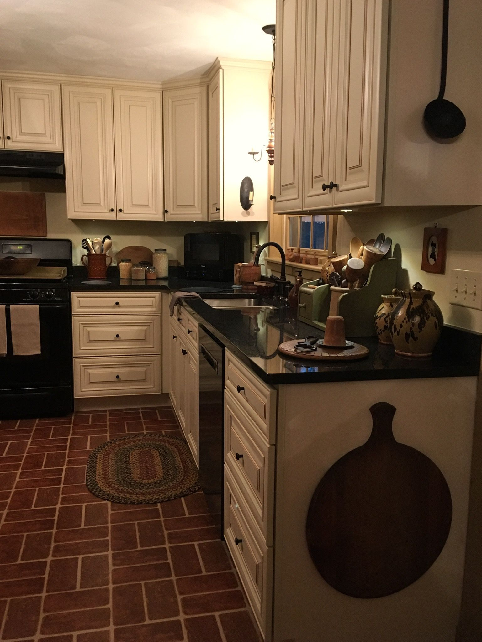 Best Kitchen Gallery: New Kitchen January 2018 Behind My Red Door Kitchen Country Prim of Country Colonial Kitchen Ideas on rachelxblog.com