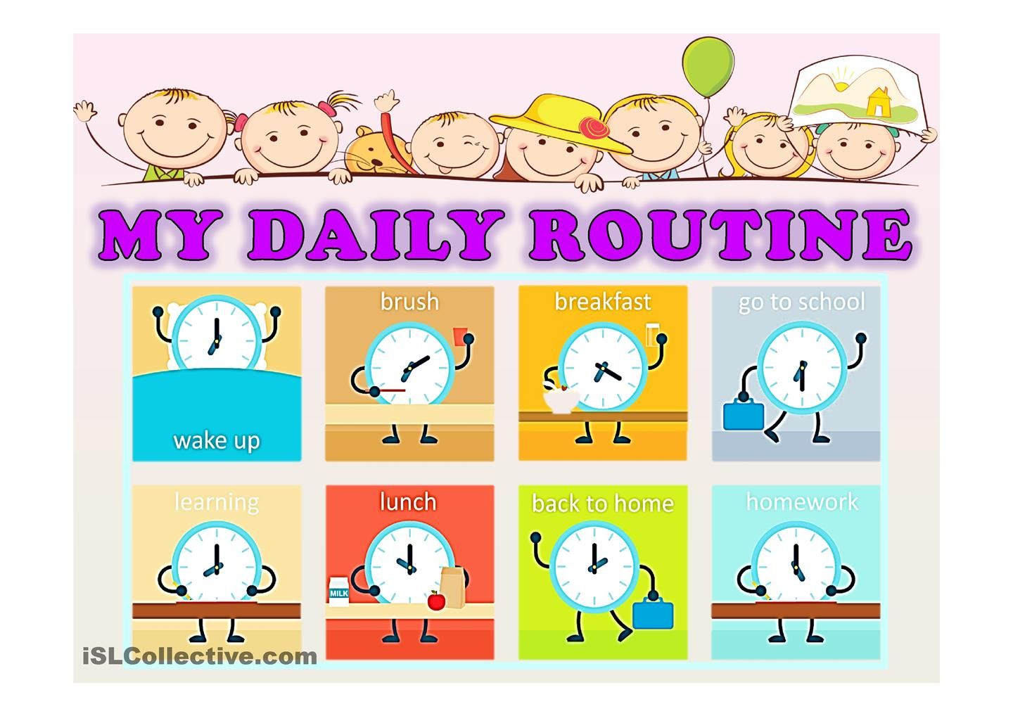 My Daily Routine And Time