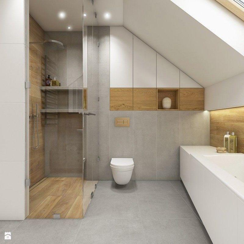 bad mit begehbarer dusche   Badezimmer dachschräge ...