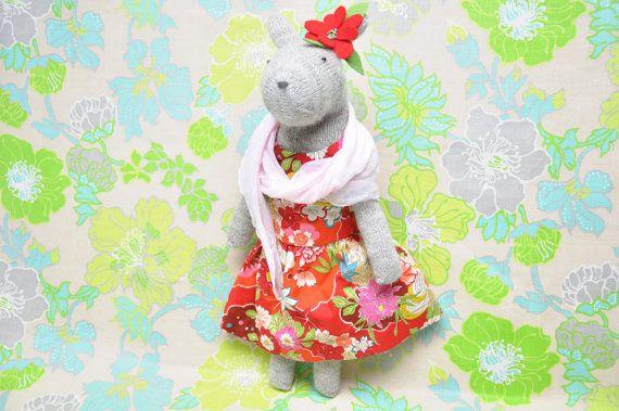 Hand Knit Bunny in Cashmere Dress, Bonny Bunny