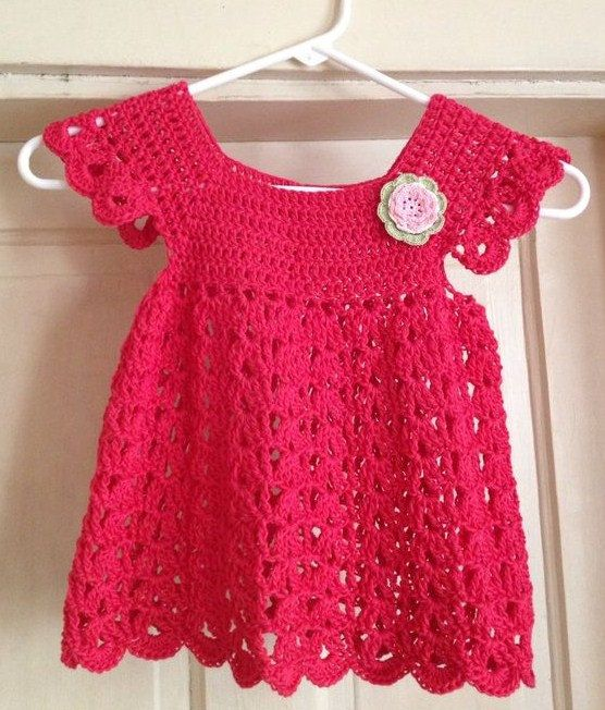 size 45years Crochet Pattern Little Girl/'s Dress
