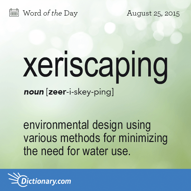 Word of the Day xeriscaping