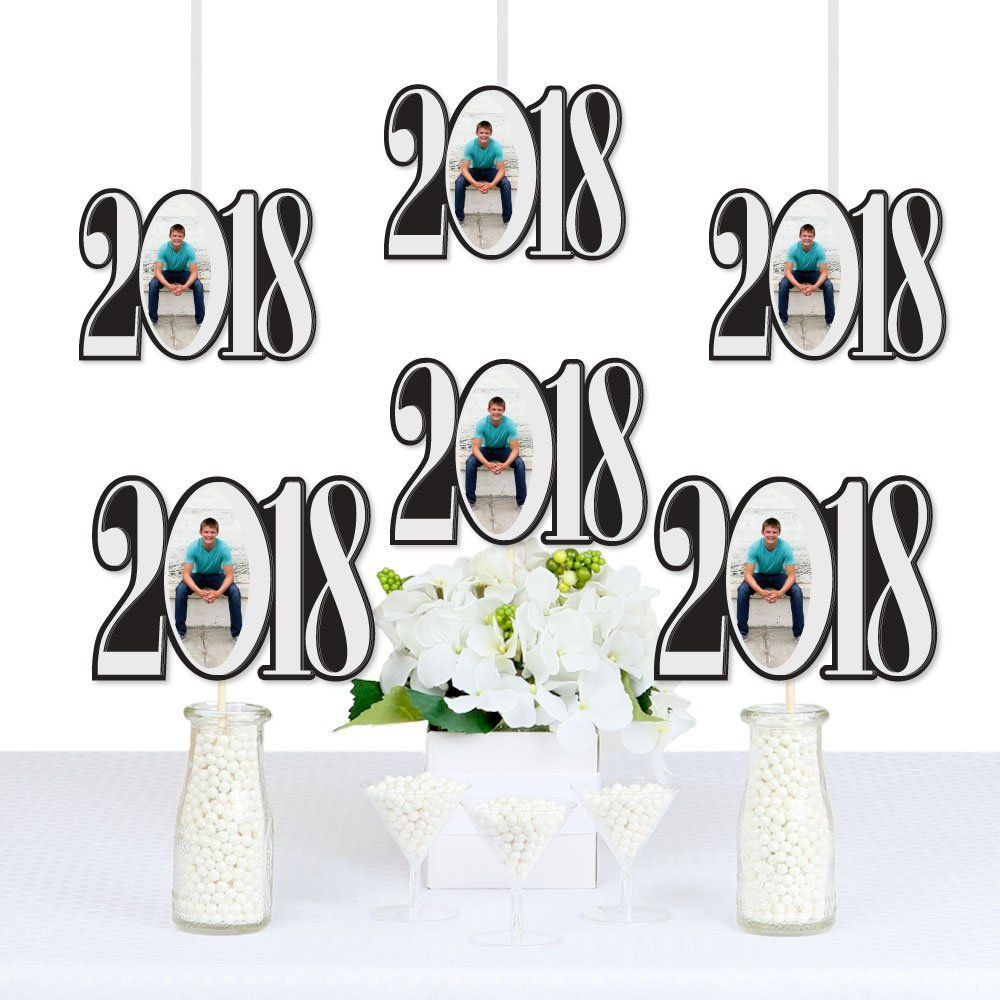 Amazon.com: Custom Graduation Cheers - 2018 Graduation Photo Decorations DIY Party Essentials - Set of 20: Toys & Games