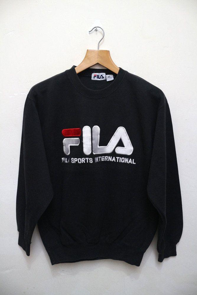Vintage FILA Italia Hip Hop Sports Swag Streetwear Pullover Sweatshirt  Sweater Size L