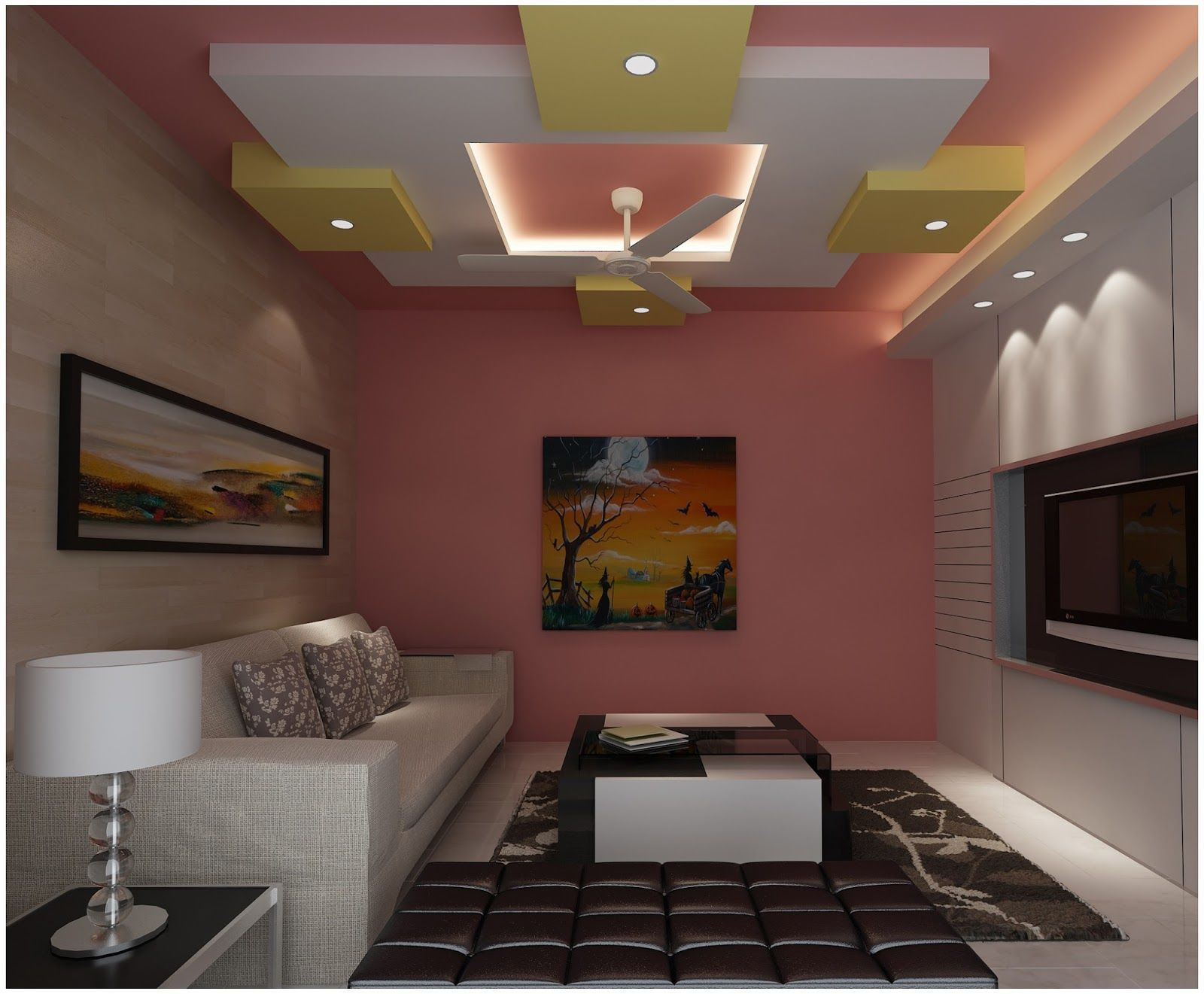 Pop ceiling design for small bedroom