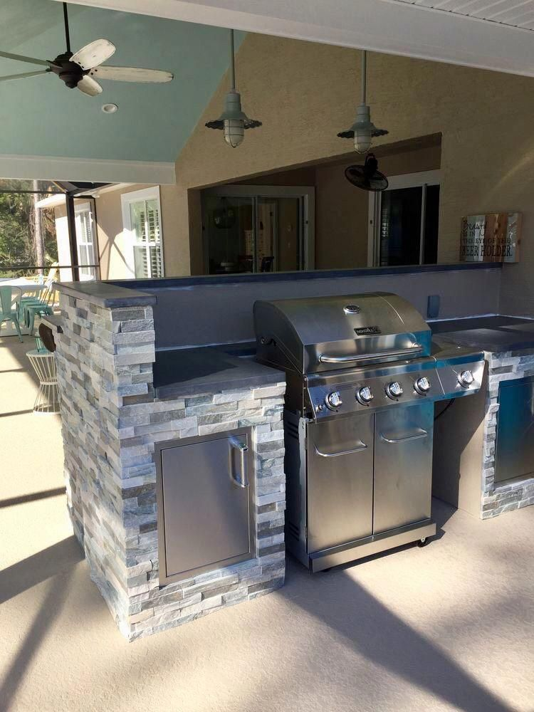 Fantastic Outdoor Kitchen Designs Layout Patio Detail Is Readily