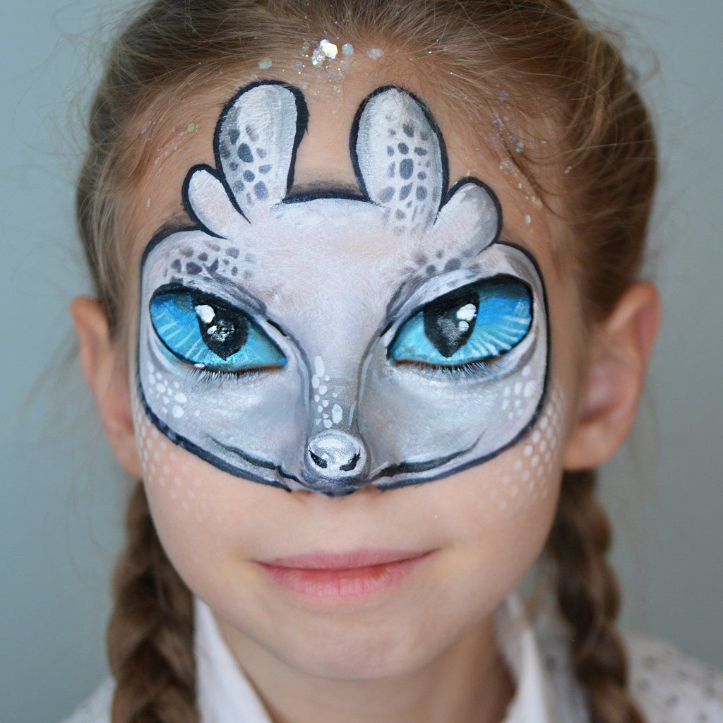 Face Paint Supplies Adelaide Light Fury Mask Face Paint By Natalia Kirillova Masks Mask