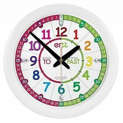 Ebay Link Easyread Time Teacher Children S Wall Clock With Simple 3 Step Teaching Ertt En Home Gard Clock For Kids Learning Clock Teaching Clock