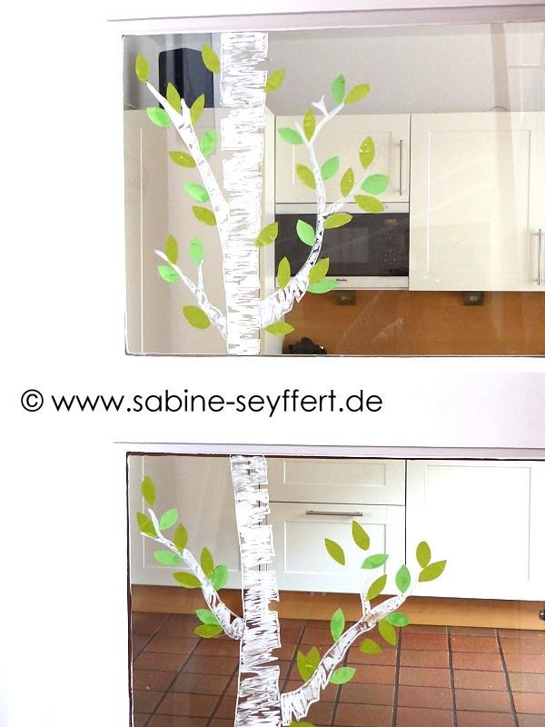 birke 4 kita fr hling fensterdeko fr hling und. Black Bedroom Furniture Sets. Home Design Ideas