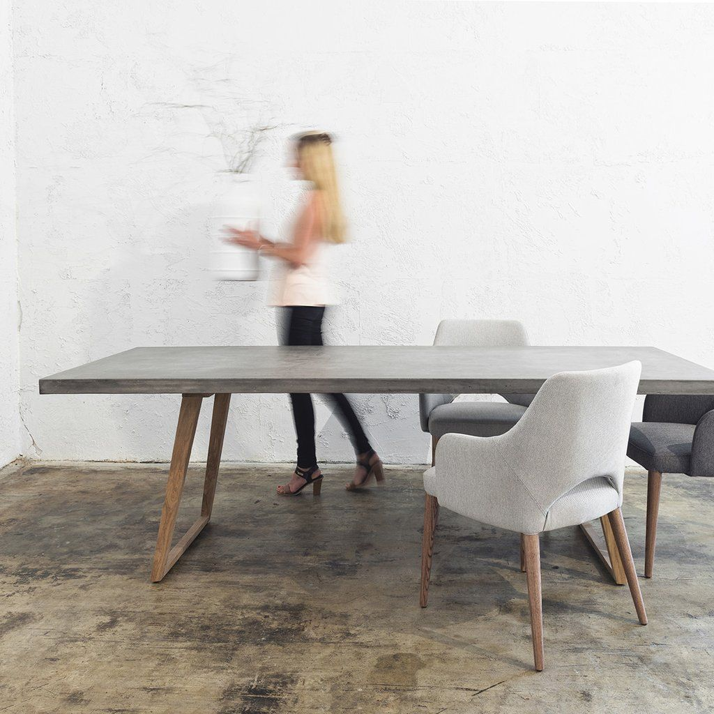 Concrete Dining Table 2200 X 900 Grey Grey Dining Tables Concrete Dining Table Scandinavian Dining Table