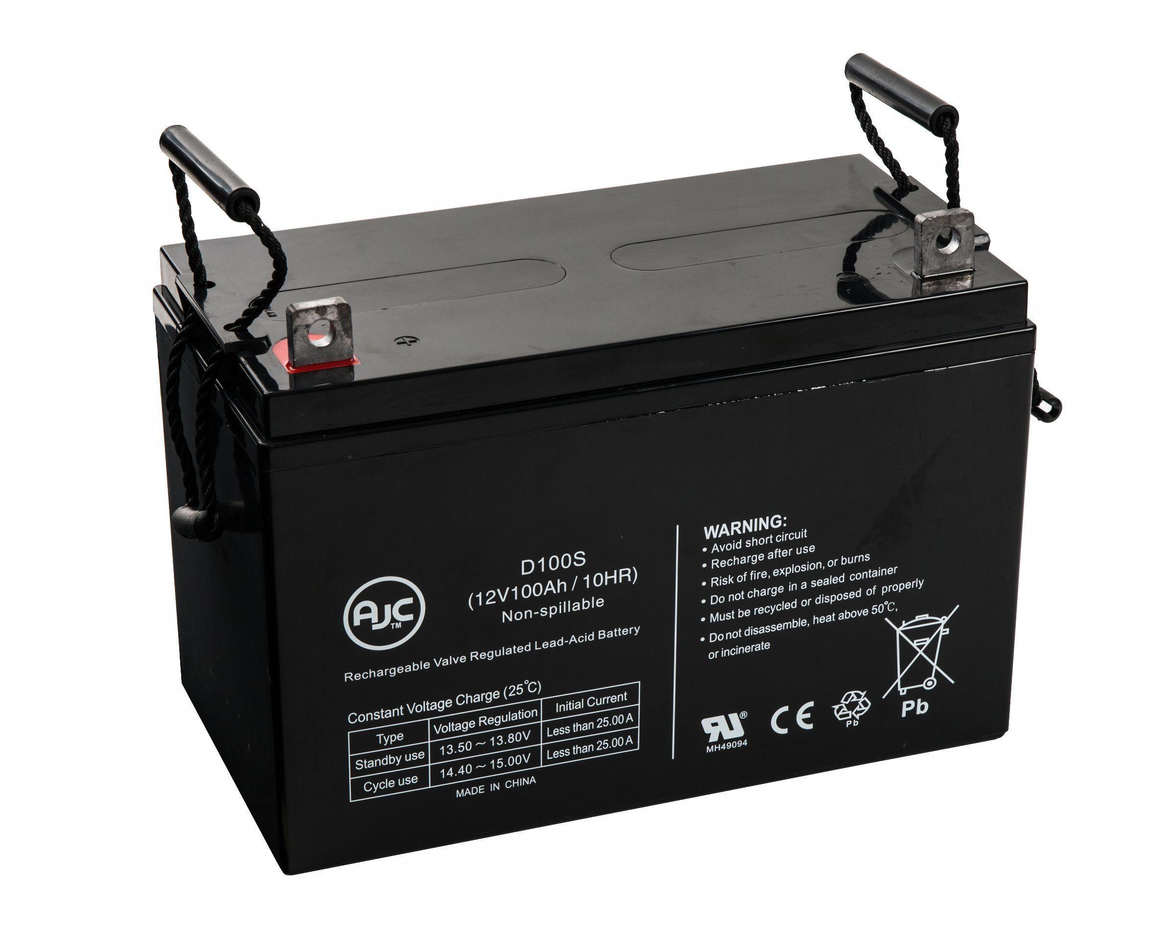 ca20d37c9a9 AJC® Brand 12 Volt 100Ah Sealed Lead Acid - AGM - VRLA Battery Voltage: