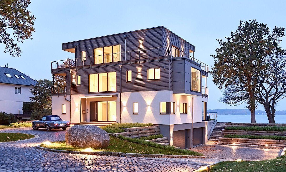 Fertighaus Stadtvilla modern mit Garage & Flachdach