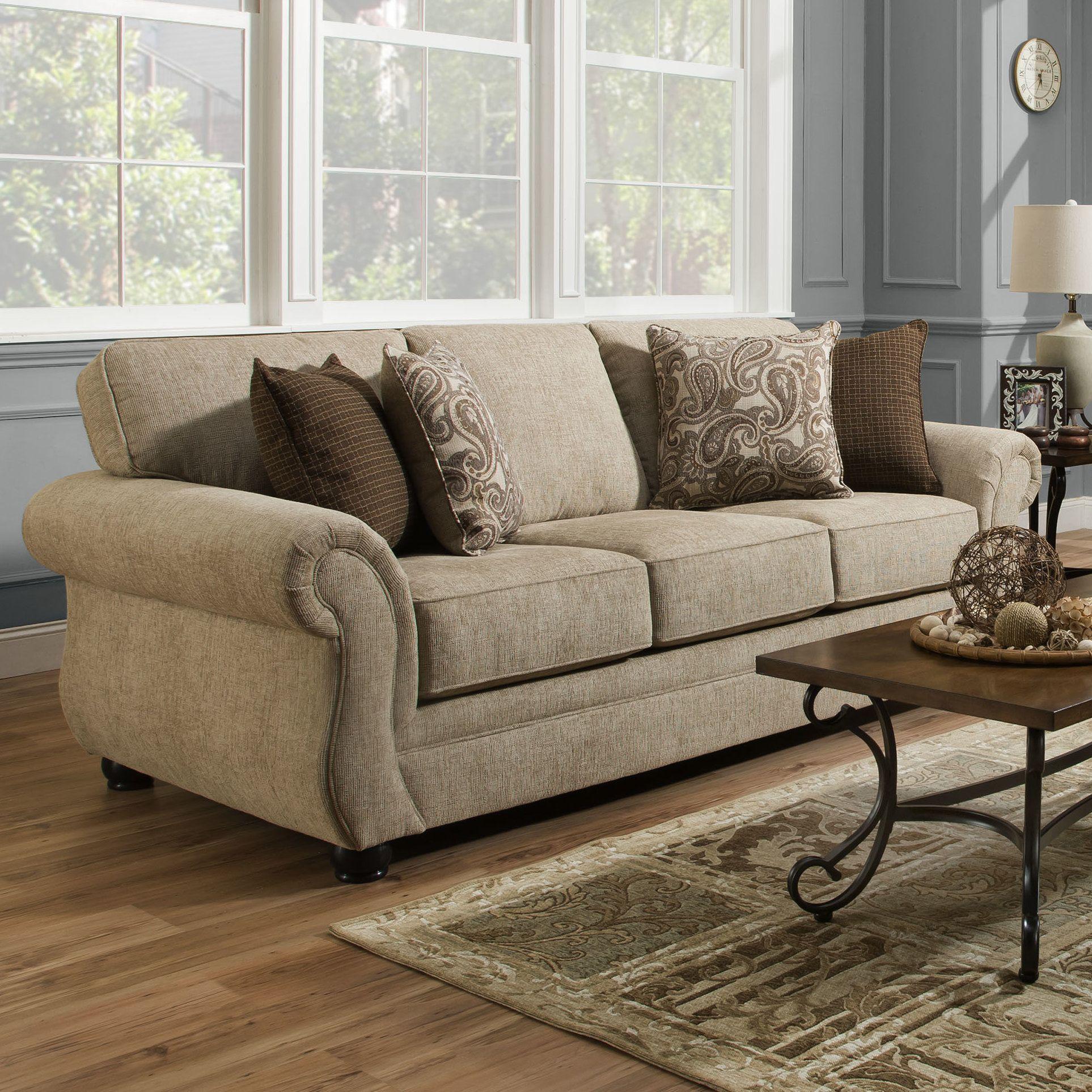 Simmons Vicki Parchment Sofa With Images Sofa Furniture Furniture Sleeper Sofa