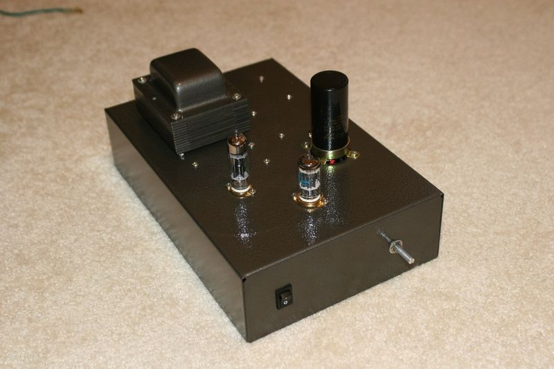 my very first DIY tube preamp  This is the