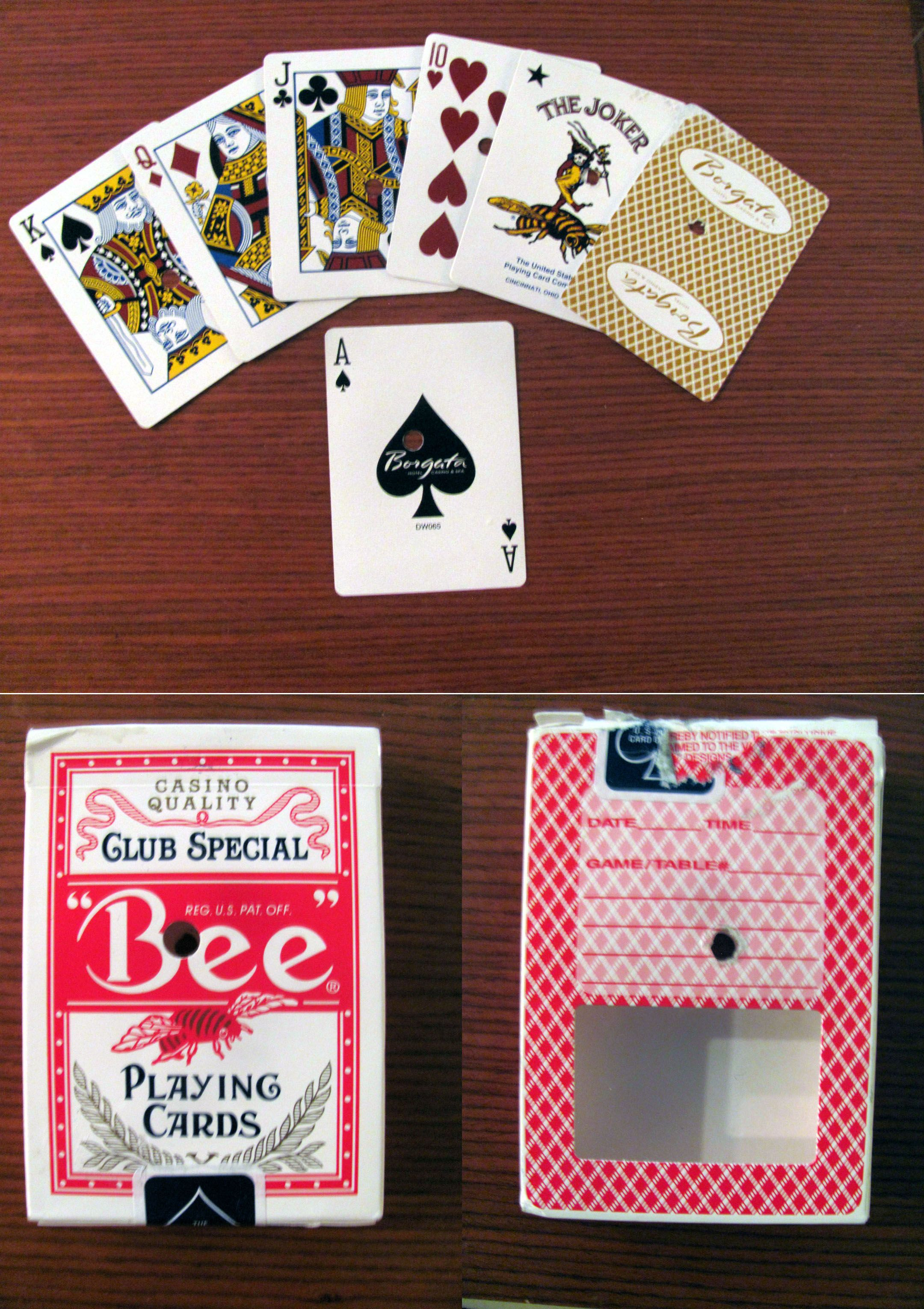 Bee Club Special Borgata Hotel Casino Tan Back Bee Playing Cards Deck Of Cards Casino