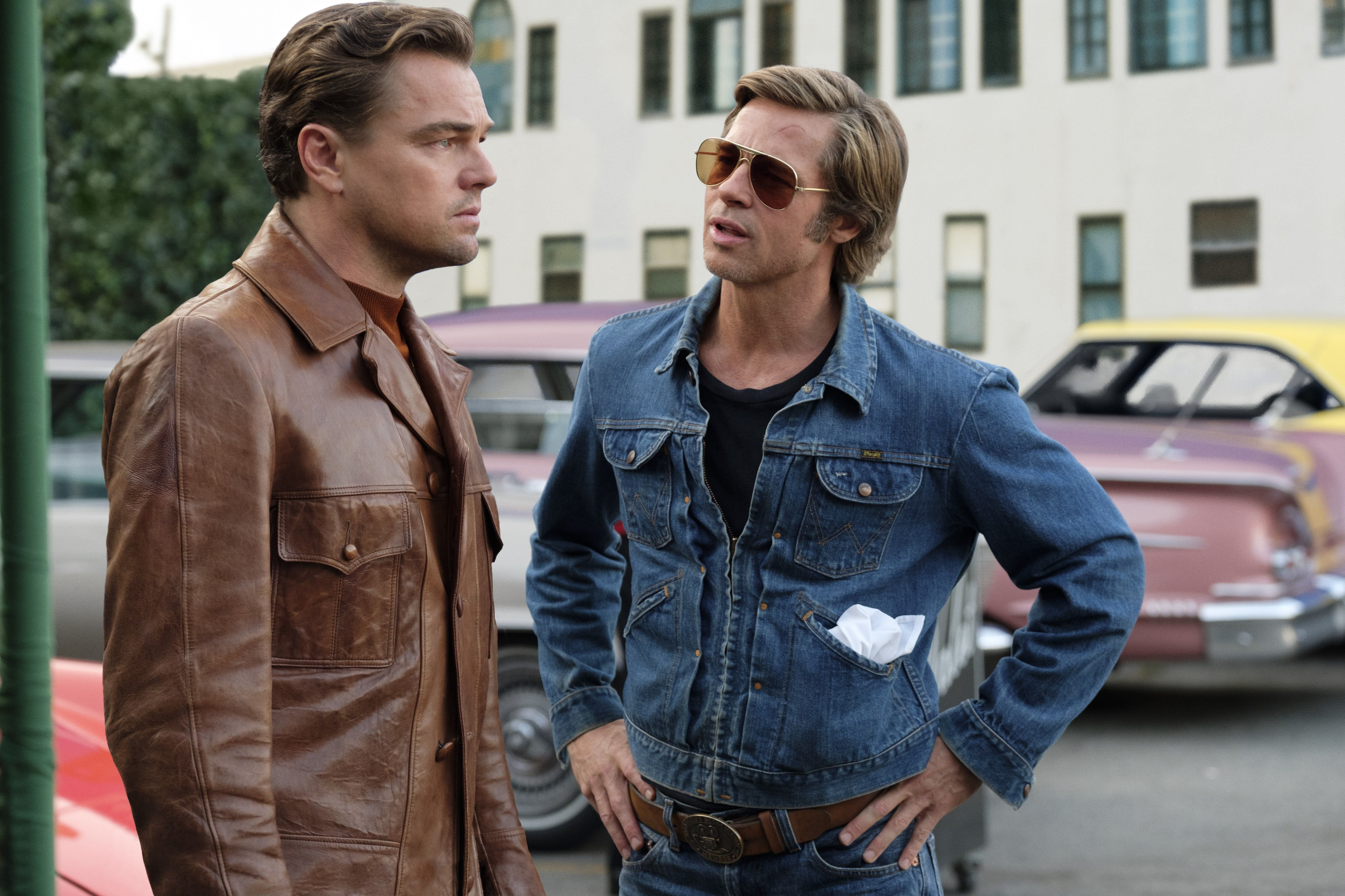 Movie Once Upon A Time In Hollywood Brad Pitt Cliff Booth Leonardo Dicaprio Rick Dalton 5k Wallpaper Hdwallpaper Desktop In 2020 Brad Pitt Hollywood In Hollywood