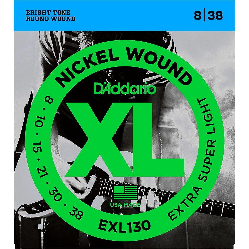 D Addario Exl130 Nickel Extra Super Light Electric Guitar Strings Electric Guitar Strings Guitar Strings D Addario