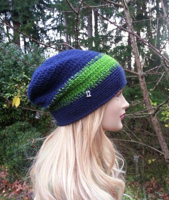 Seattle Seahawks Women Crochet Hat. Deep Blue   by AnnKnittingShop 67fb10a54