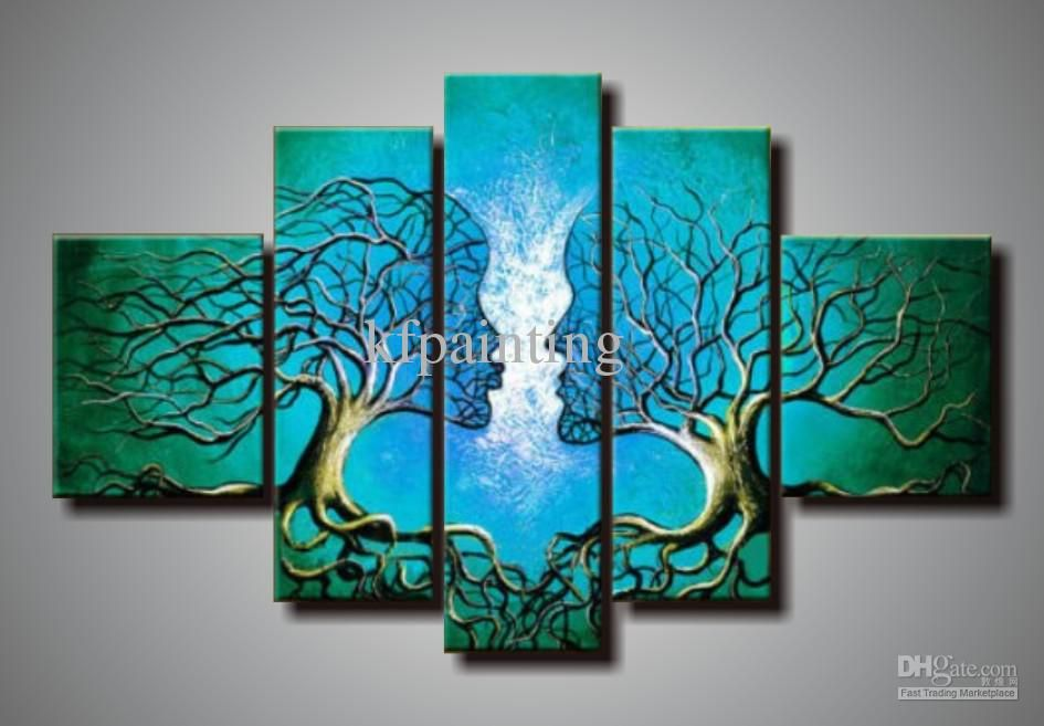 Abstract 5 Piece Painting Wall Art Tripticos Pinterest