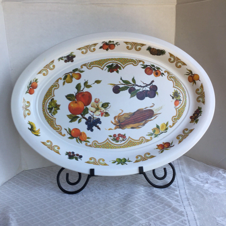 Thanksgiving Vintage White Melamine Serving Platter / Extra Large Turkey  Platter By Vintagepoetic On Etsy