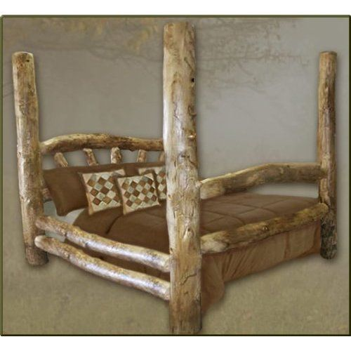 Queen Size Aspen Poster Log Bed Price 552 53 With Images Log