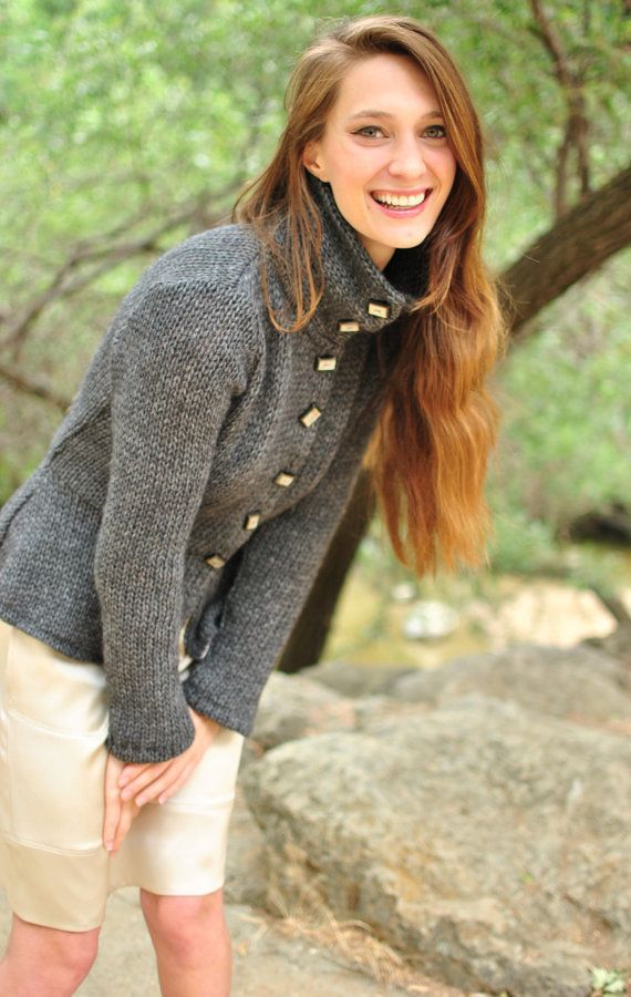 Peplum Style CardiganSweater w.ButtonUp by speakeasyboutique, $175.00