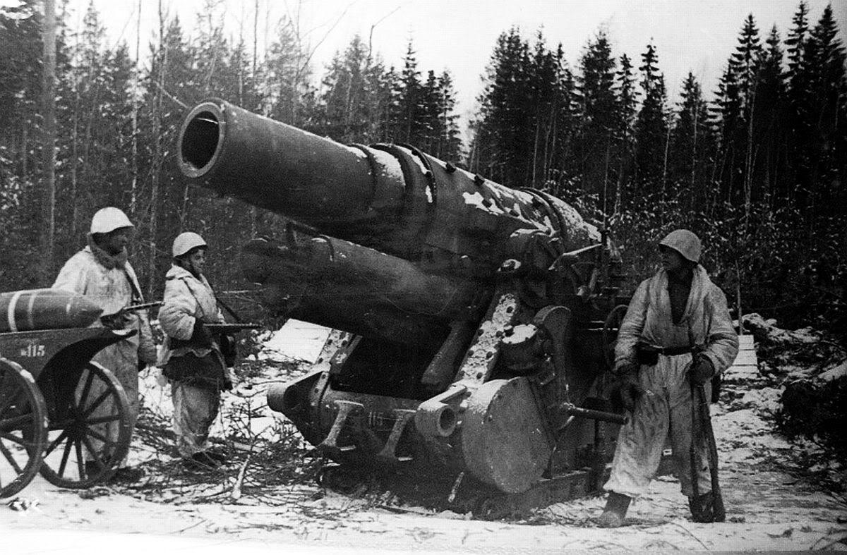 Captured German 305mm mortar nr Leningrad | WW Artillery ...