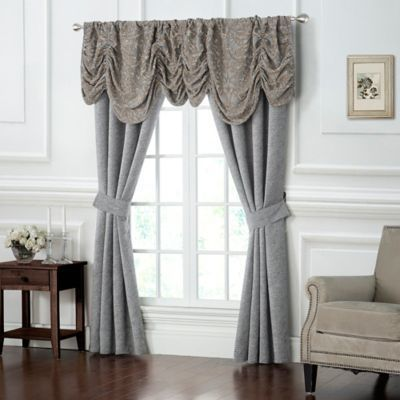 Waterford Carrick 84 Inch Rod Pocket Window Curtain Panel Pair In