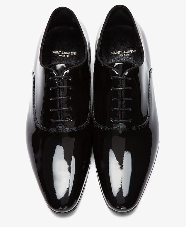 d459435b828c Shoes of the Day  Saint Laurent Richelieu Black Patent Leather Oxford Shoes