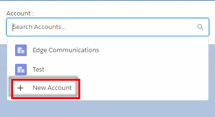 Lookup field with option to create new record in Custom