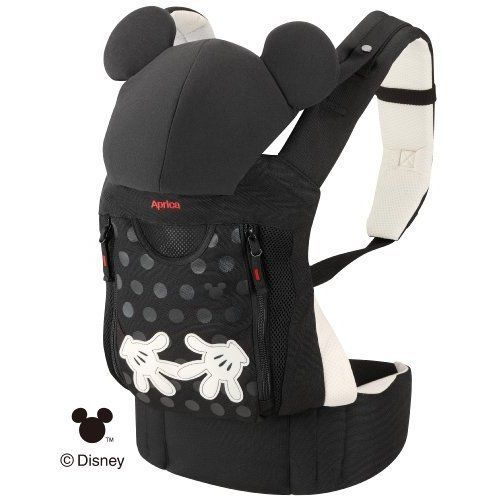 Aprica Baby Carrier Belt Fit Mickey Mouse Black #Aprica