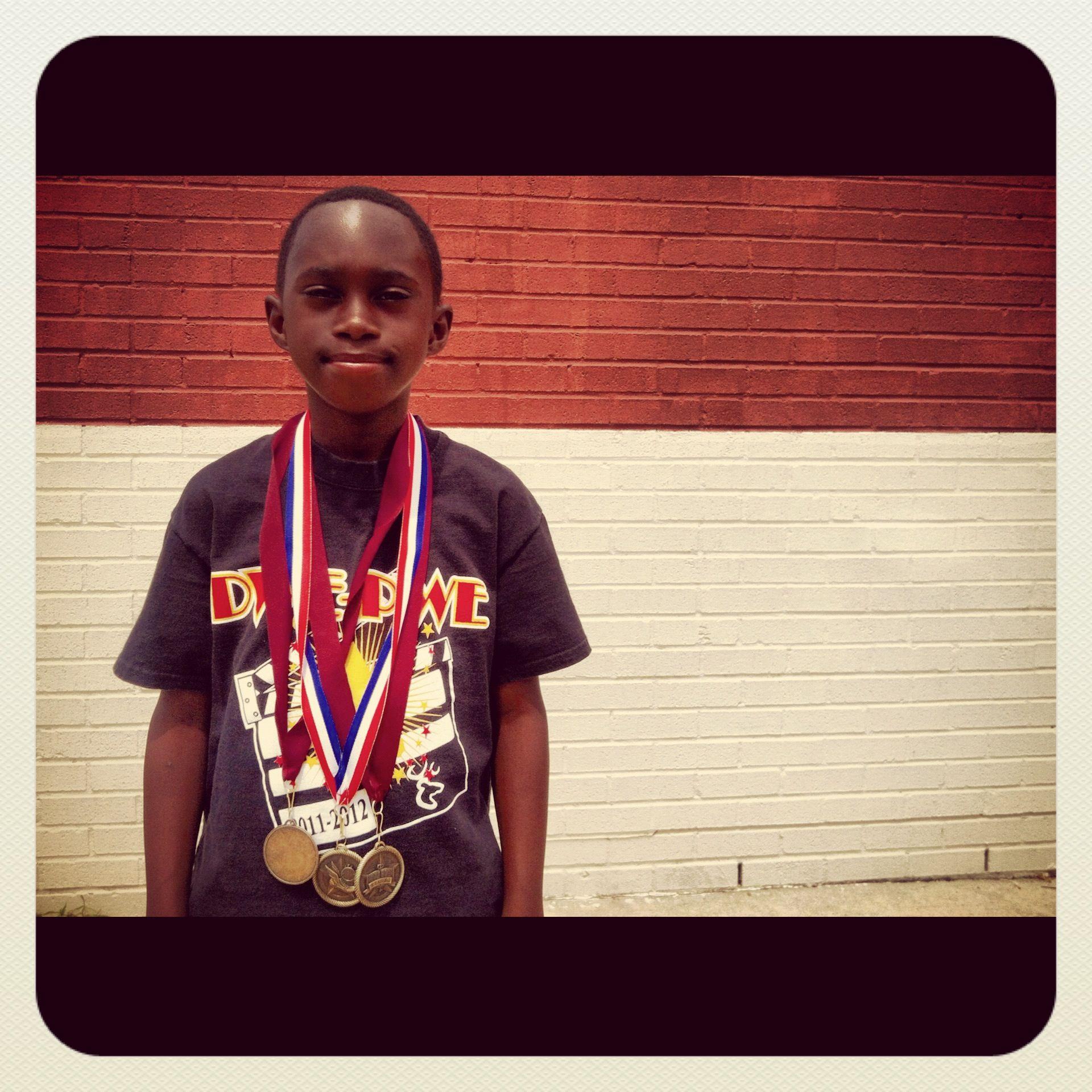 Born runner joshua track medals 3rdgrade delancy