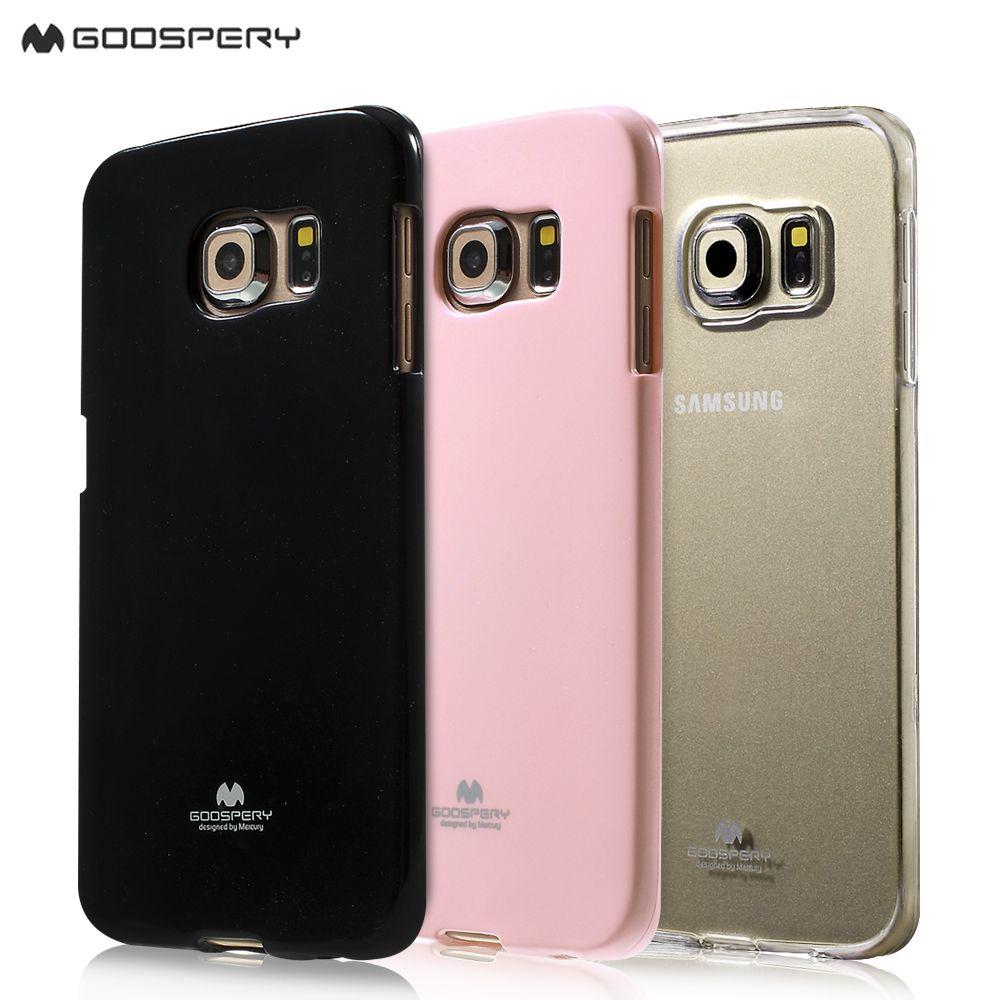 Mercury Goospery Case For Galaxy S6 Edge G925 Clear Tpu Cover Xiaomi Mi 6 Canvas Diary Pink Samsung
