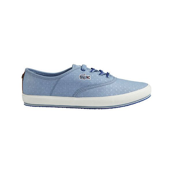 9f4c30b9bf6fc0 Women s Lacoste Amaud 116 2 Sneaker - Light Blue Canvas Casual ( 90) ❤  liked on Polyvore featuring shoes