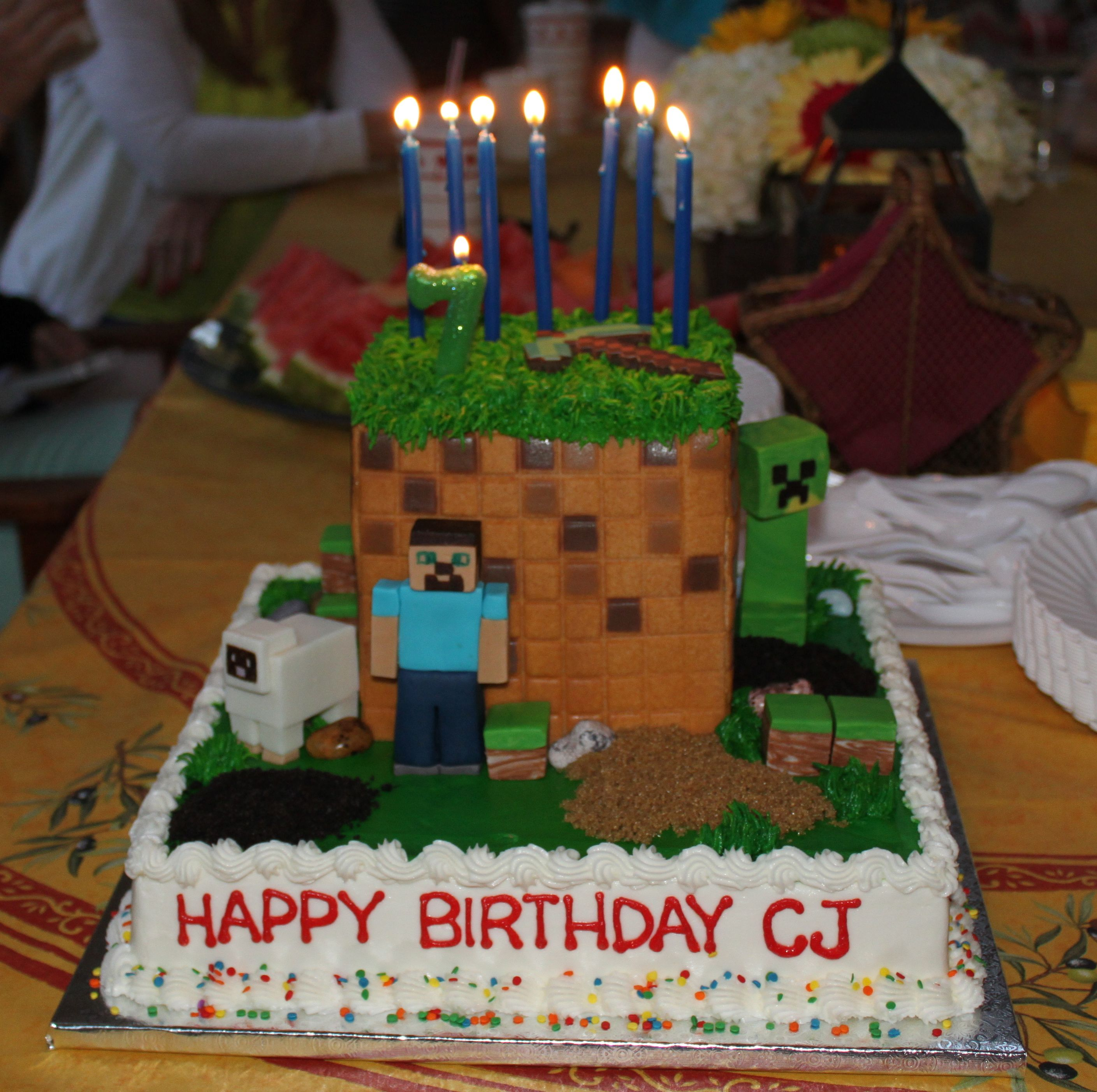 Cool 17 Of The Coolest Minecraft Birthday Cakes Ever Created Personalised Birthday Cards Sponlily Jamesorg