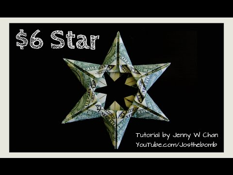 Photo of Christmas Crafts – DIY How to Make Star Money Origami – Dollar Origami – Gift / Decoration Tutorial