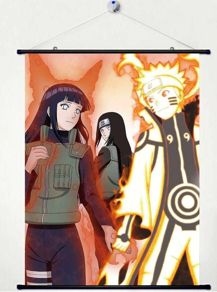 Home Decor Japanese Wall poster Scroll Naruto SHIPPUDEN Uzumaki Kyuubi Chakra C