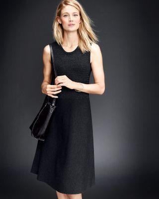 174b692a9894 Eileen Fisher Textured Washable Wool Tank Dress