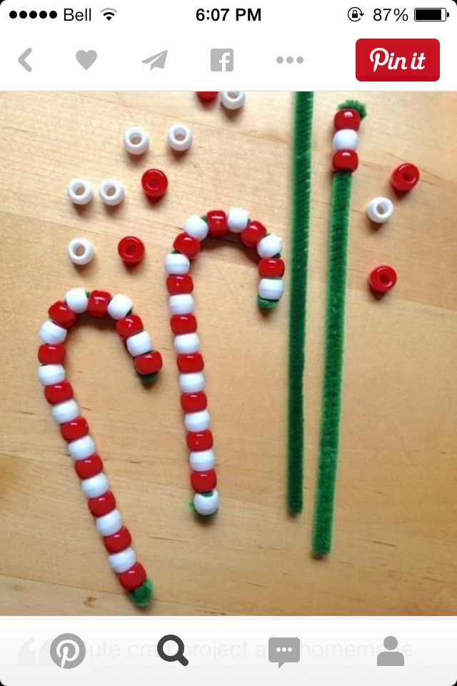 cute candy cane craft