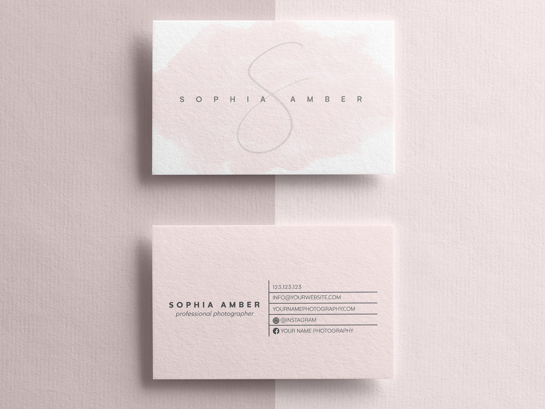 Minimalist Business Card, Modern Business Cards, Business Card Templates, Clean Business Card, Premade Business Card, PSD Template