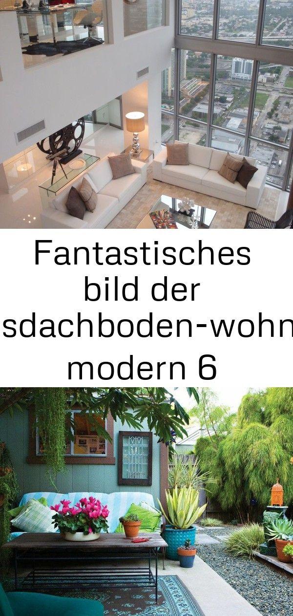 Fantastisches bild der luxusdachboden-wohnung modern 6 #innenhofgestaltung