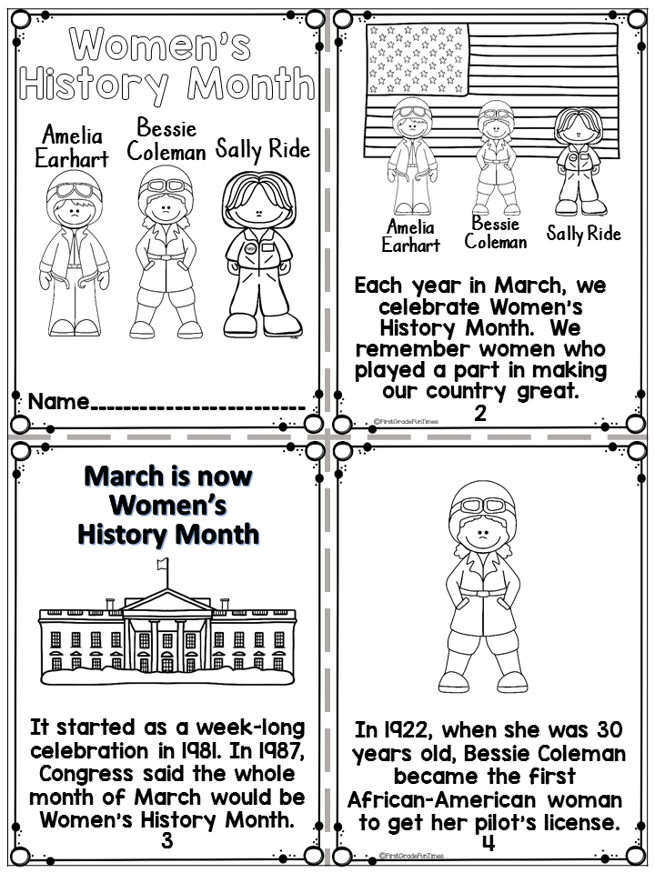 Women S History Month Printable Readers And Writing Activities Womens History Month Black History Month Crafts Black History Month Activities