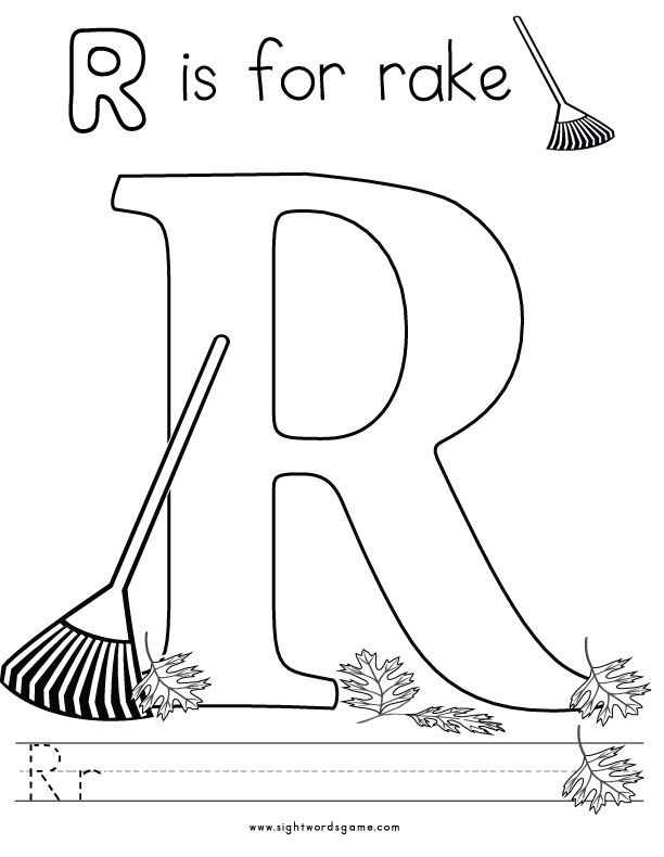 Letter-R-Coloring-Page-2 | Letters of the Alphabet | Pinterest ...