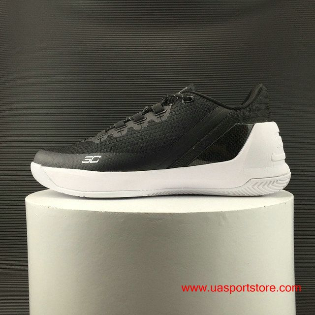 af293de8f78fdc Official Under Armour Curry 3 Low Classic Black White Men s Basketball Shoes