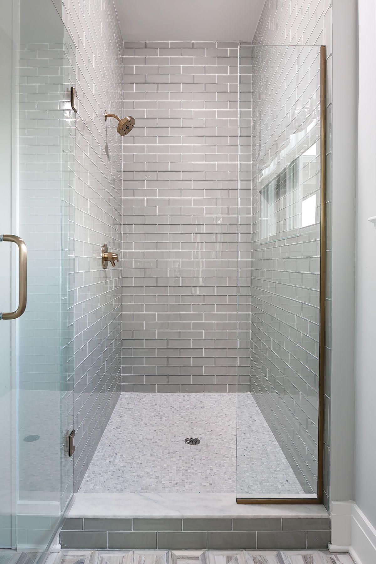 Bernadette Glass Tile Shower Subway Tile Showers Glass Subway