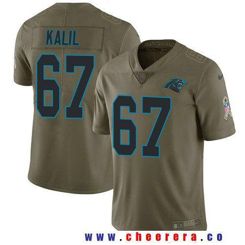 87f3b5e4e Men s Carolina Panthers  67 Ryan Kalil Olive 2017 Salute To Service  Stitched NFL Nike Limited